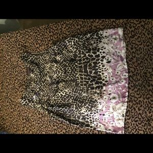 Dressy tank top- brown/beige/pink sequins